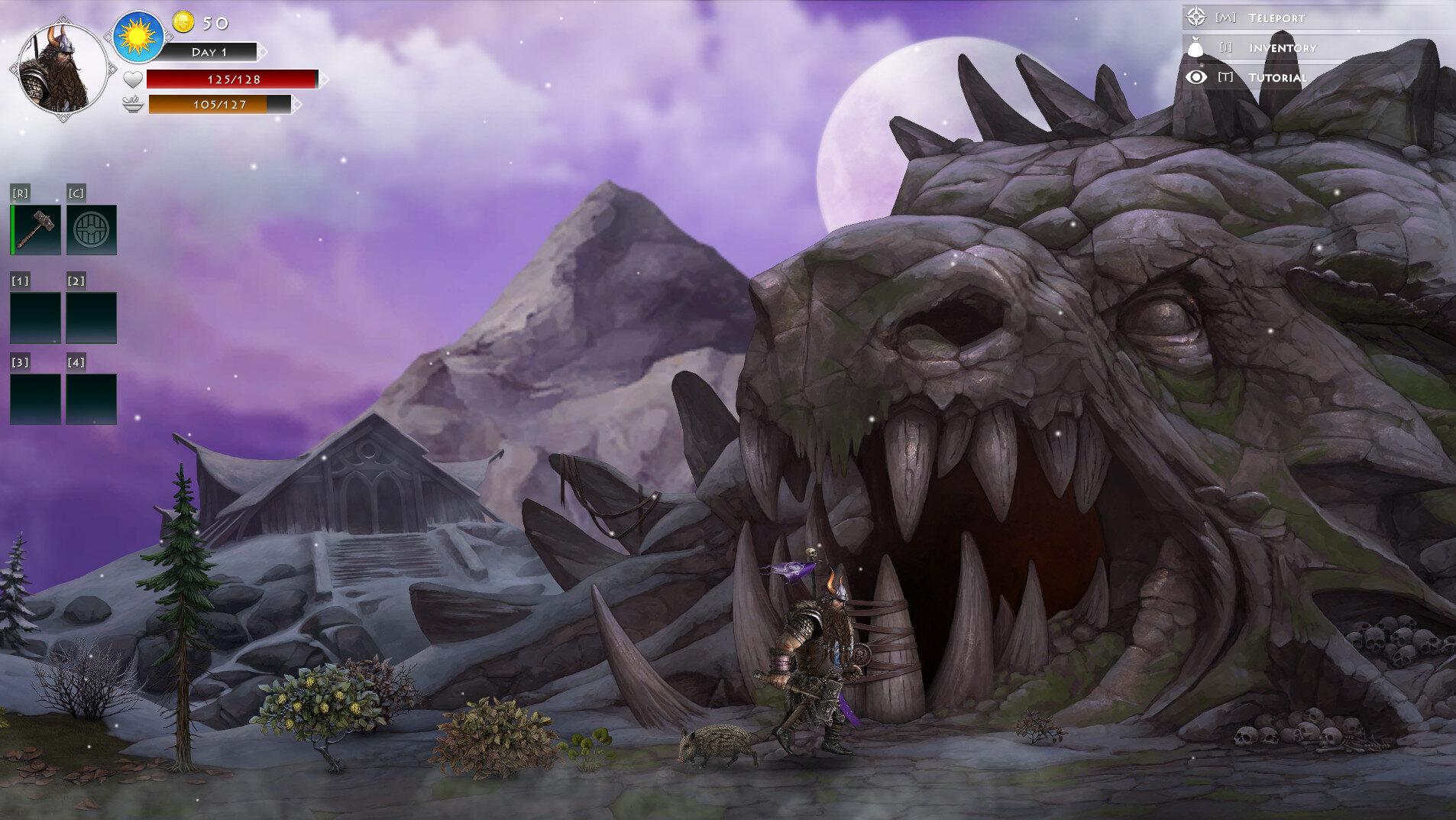 dungeon view (Promo art)