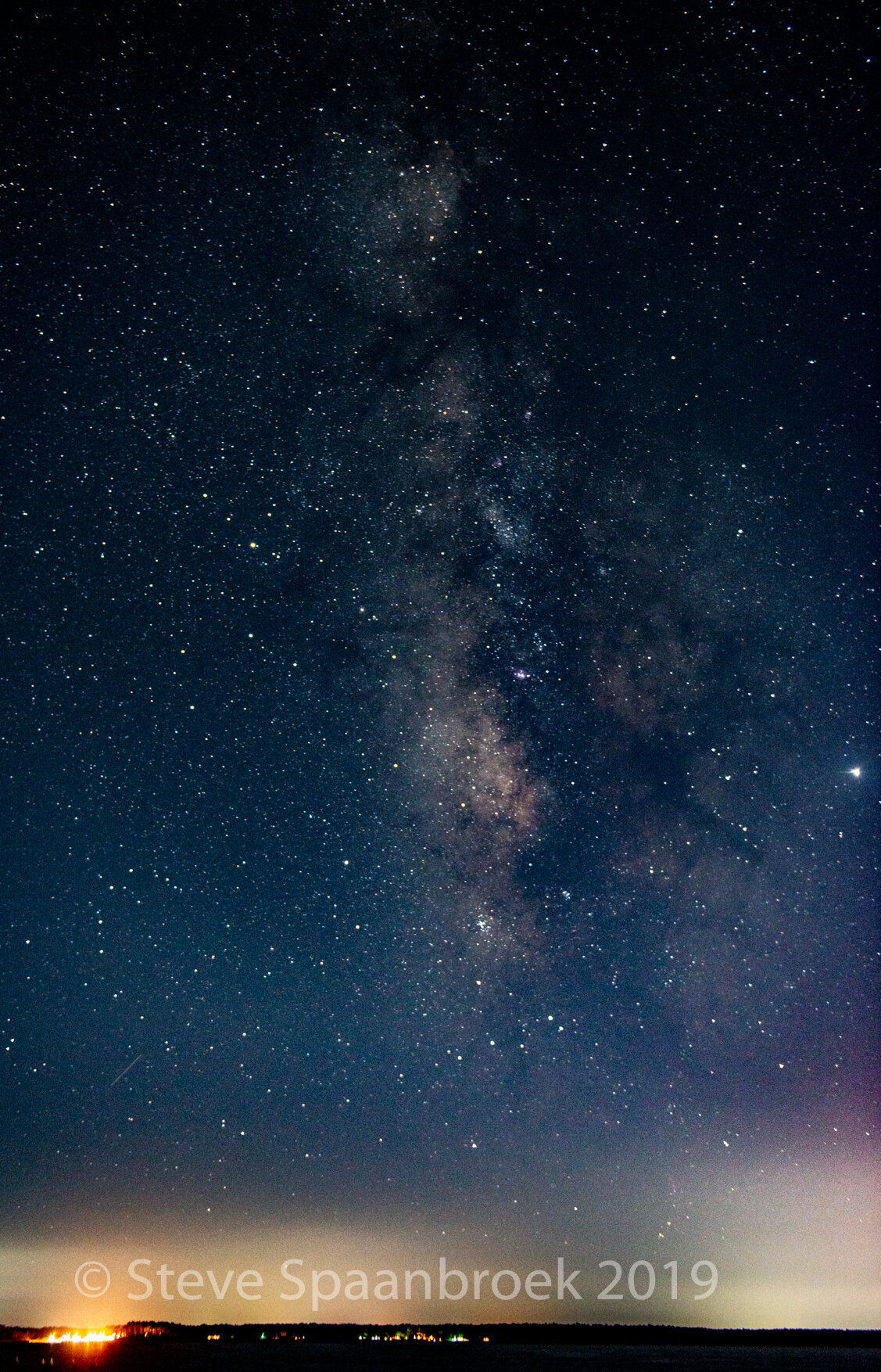 The Milky Way over the Neuse River