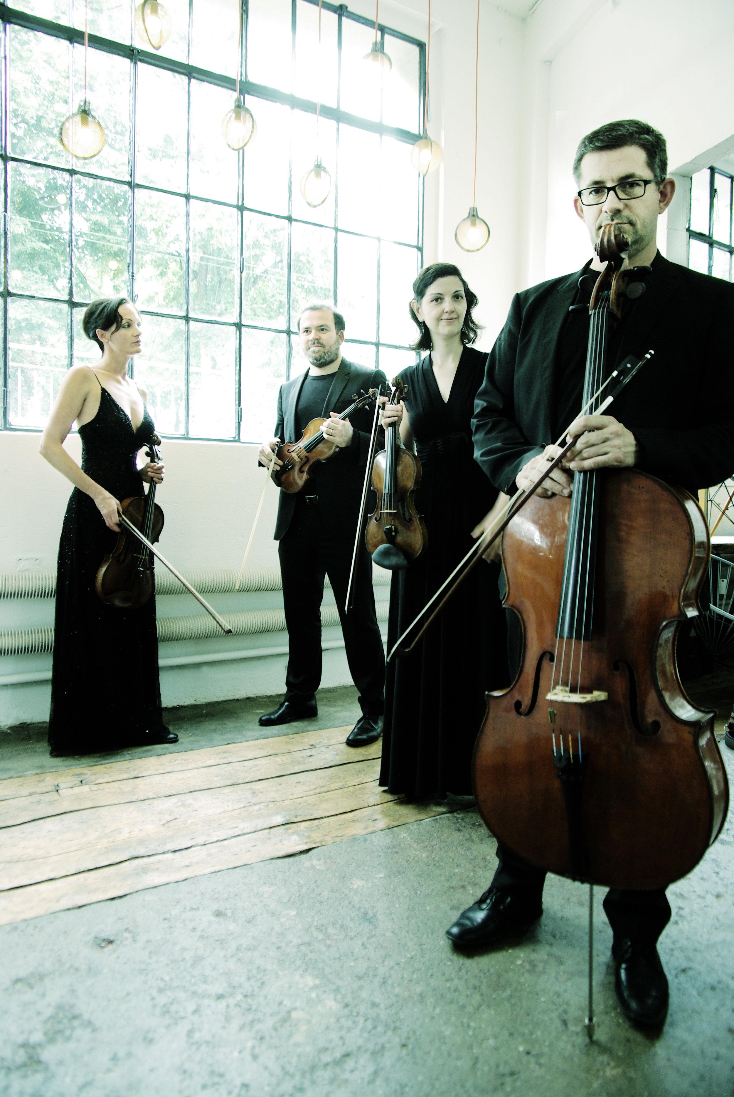 Carolina Cohen-Adad (Viola), Girolamo Bottiglieri (Primo violino), Raya Raytcheva (Secondo Violino), François Grin (Violoncello) © Patrick Bühler