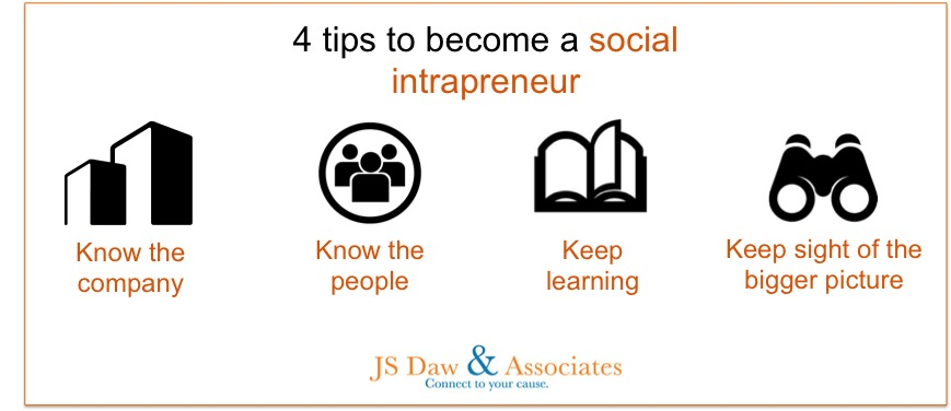 4 tips to become a social intrapreneur