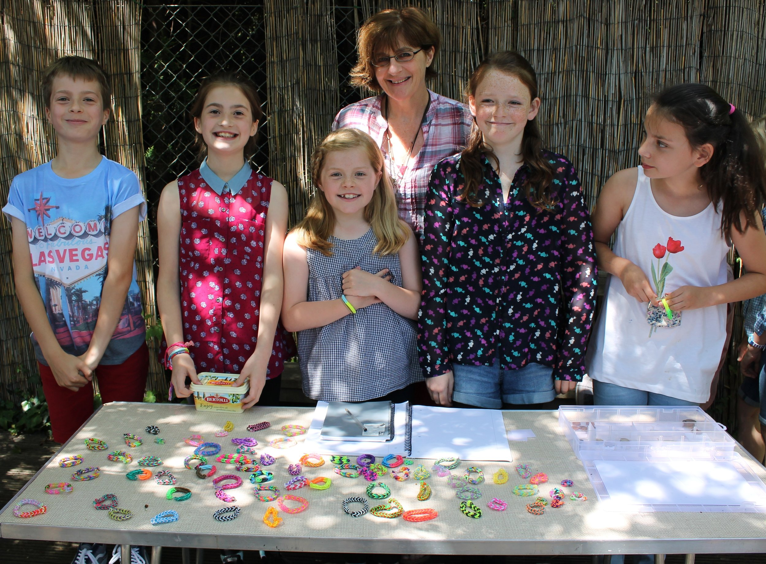 Issie, Rosie, Edward and friends - ... for spending hours and hours making bracelets and then selling them at school. Thank you so much for your thoughtfulness and efforts. And not forgetting, of course, to thank all those children who bought one.