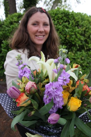 Debbie O'Mahoney - ... for creating and raffling this beautiful bouquet of flowers which raised enough to help us put a primary school child through school for a year. Thank you!
