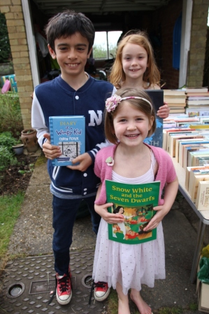 Mollie, Alice & Joe - … for holding a book and cake sake which raised a brilliant £307. This will buy a cow or put a child through primary school for six years. WOW!
