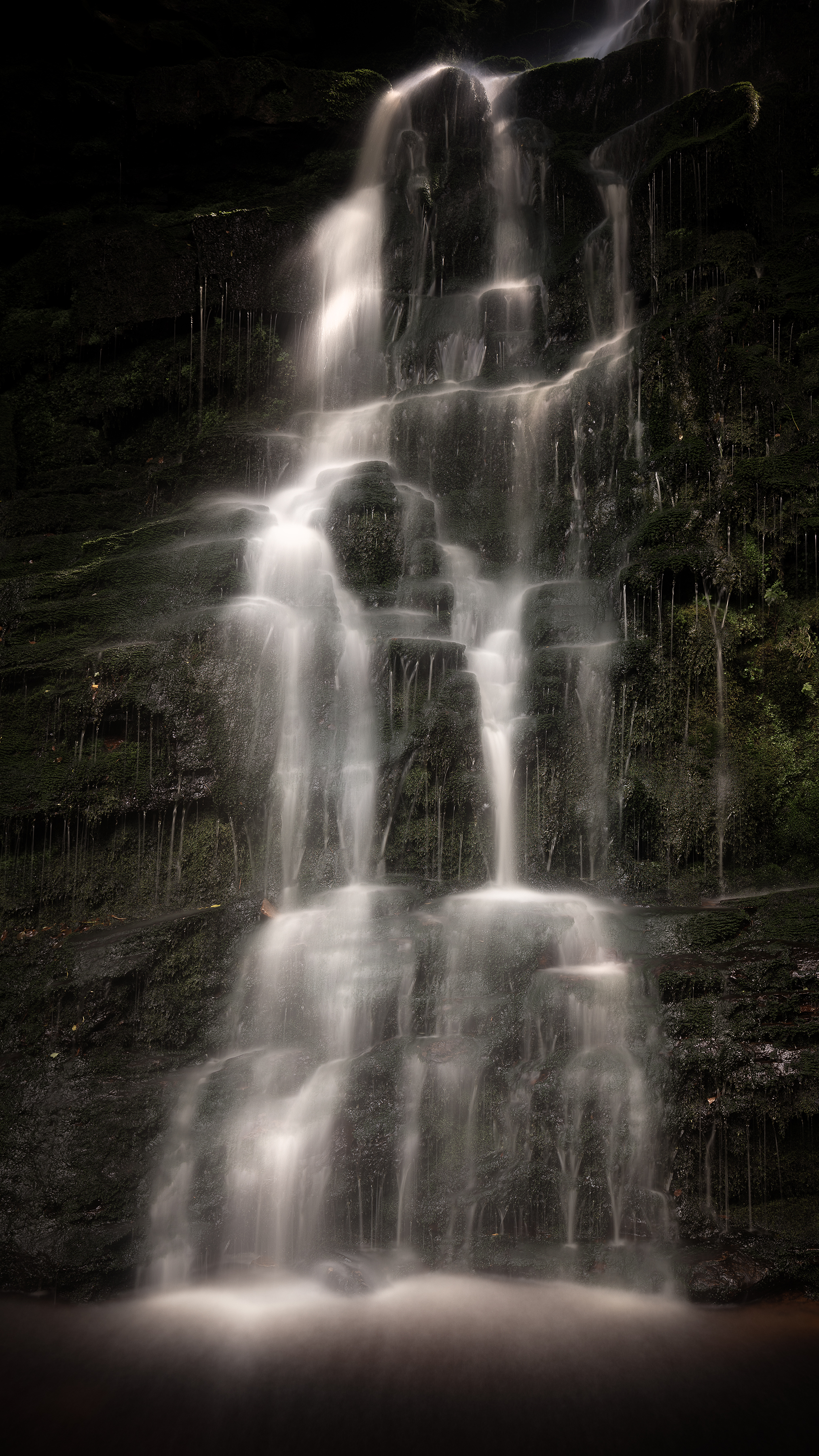 Middle Black Clough Waterfall Peak District Landscape Photography