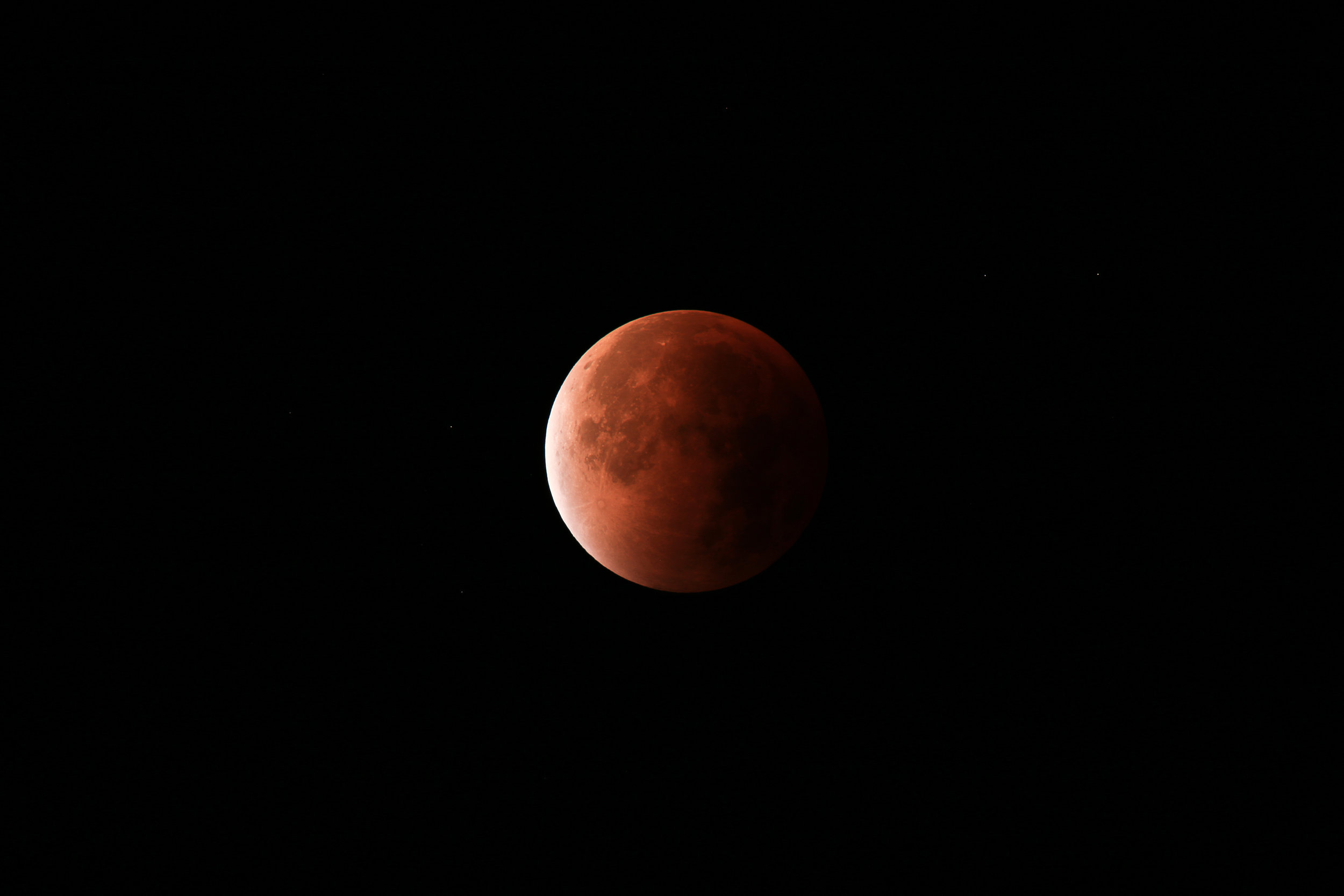 Blood moon total eclipse
