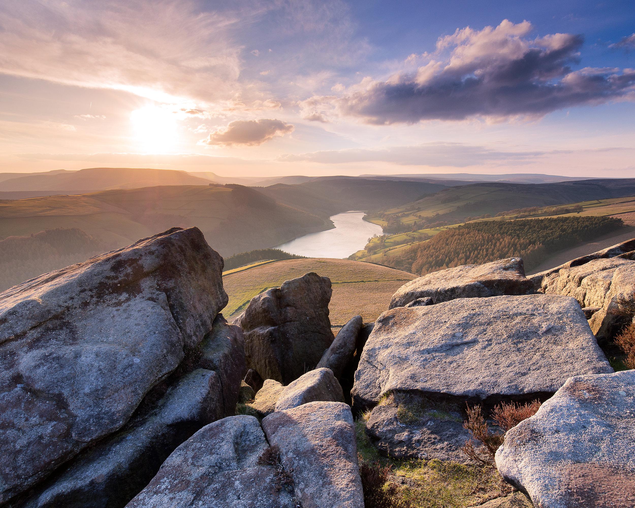 Whinstone Lee Tor Derwent reservoir Peak District landscape photography