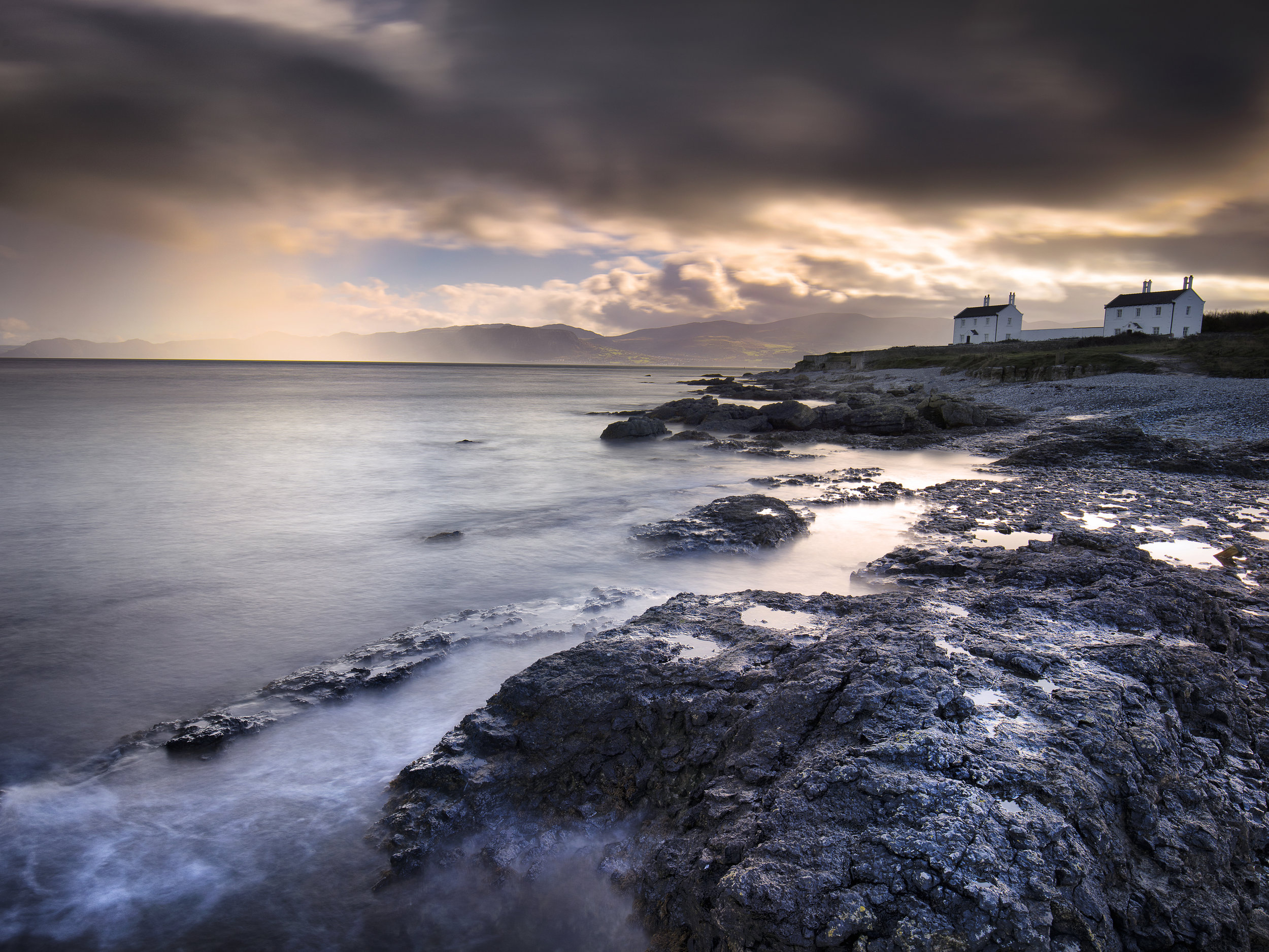 Trwyn Du Lighthouse Penmon Point Lighthouse Anglesey Wales