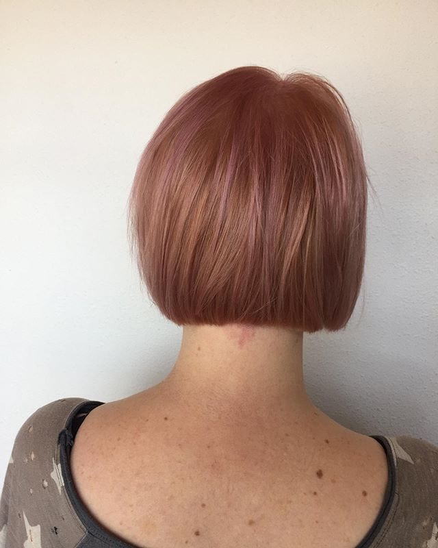 Rosè all day! Hair by Lindsay
