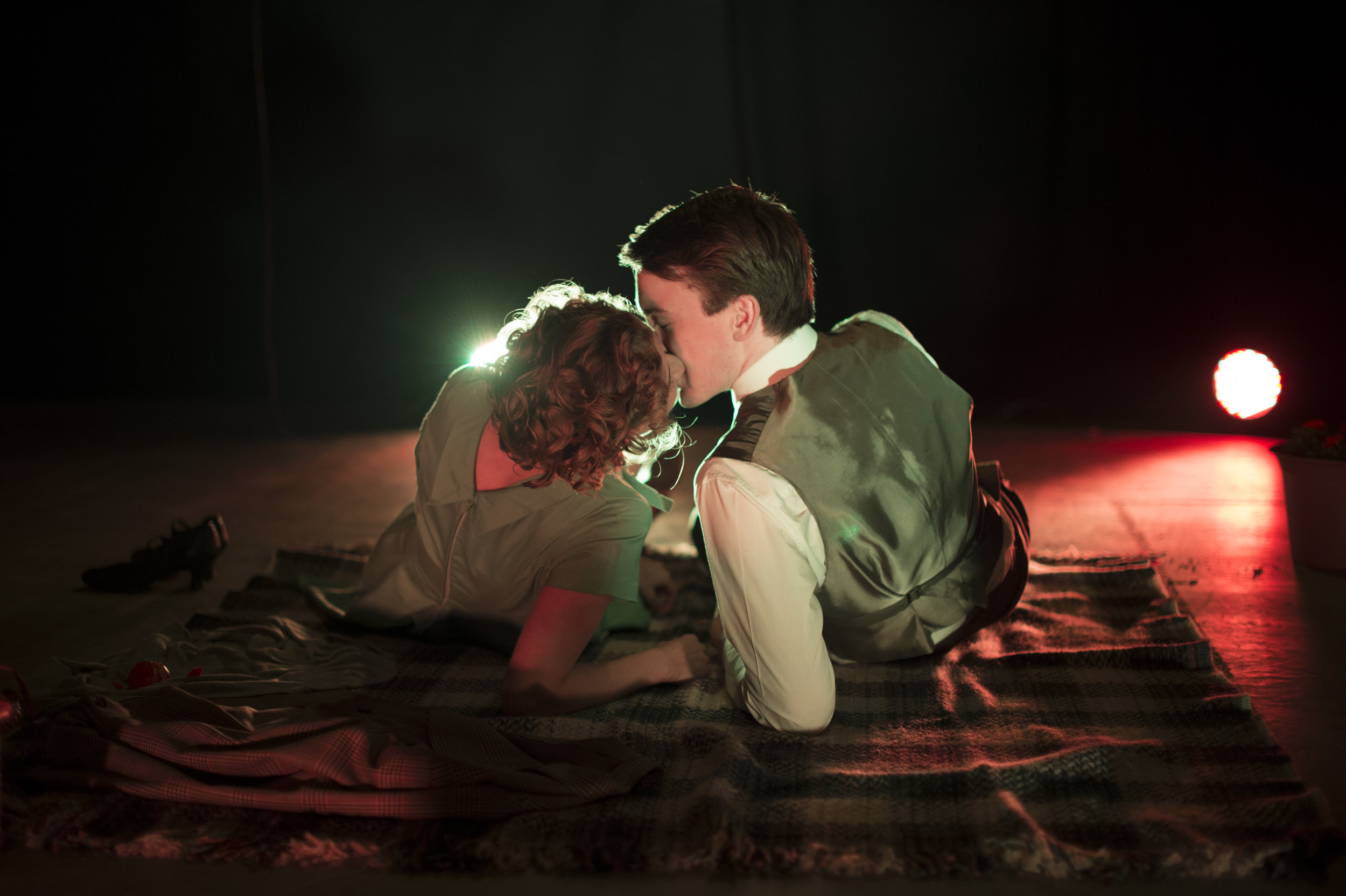 Eva (Jacky Bahbout) and Young Heiden (Tom Sterling)