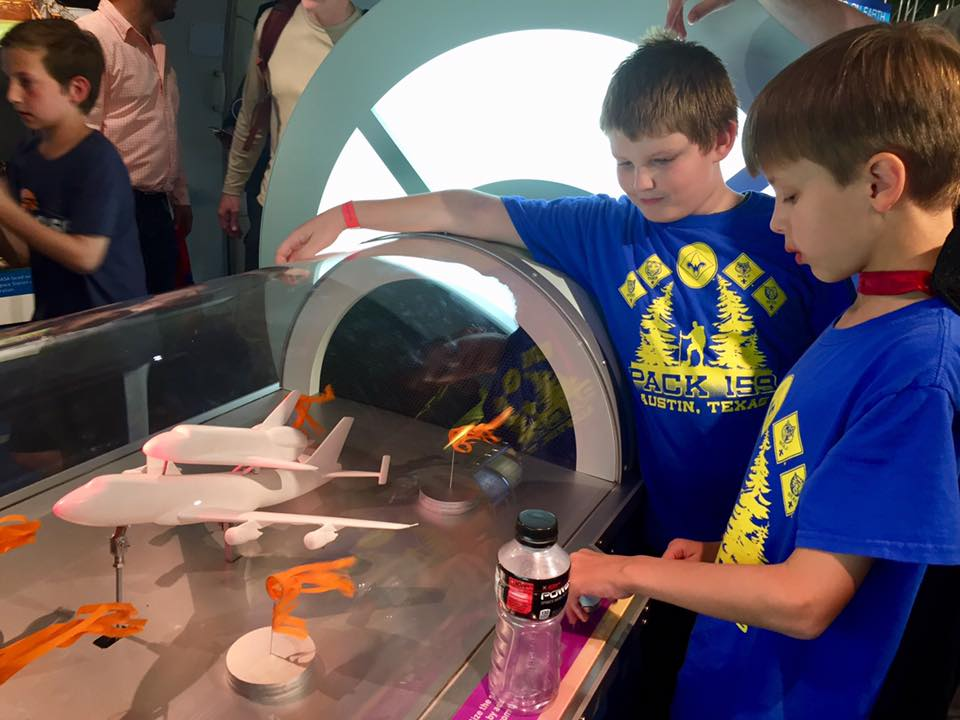 Arrow of Light Scouts spend the night at the NASA Johnson Space Center in Houston, where they might watch a combustion show, build rockets, code and play with Ozobots, and take a tram tour to see a Saturn V rocket and the historic Apollo mission control room.