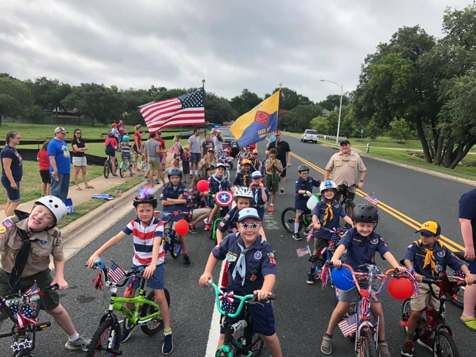 Pack 159 loves being a part of the Rattan Creek / Hunter's Chase neighborhood and marching in the 4th of July parade each year.