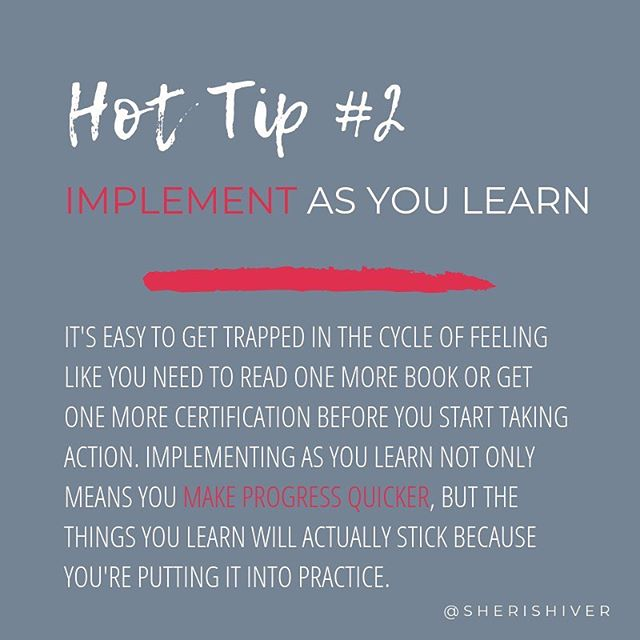 What will you implement this week?⁣ ⁣ #HotTipTuesday #becomingboss #beingboss #implementasyoulearn #alwayslearning #alwaysthestudent #alwaysgrowing #keeplearning #educationforsolopreneurs #breakthecycle #businesstips #tipsforsolopreneurs #discoverunder3k #discoverunder1k #discoverunder2k #marketingtips
