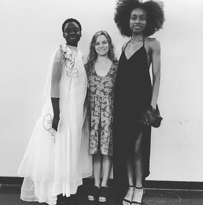 Jr Reviews SP18. Hazel- bridal, Sheri- earth dress, Mo- evening wear.