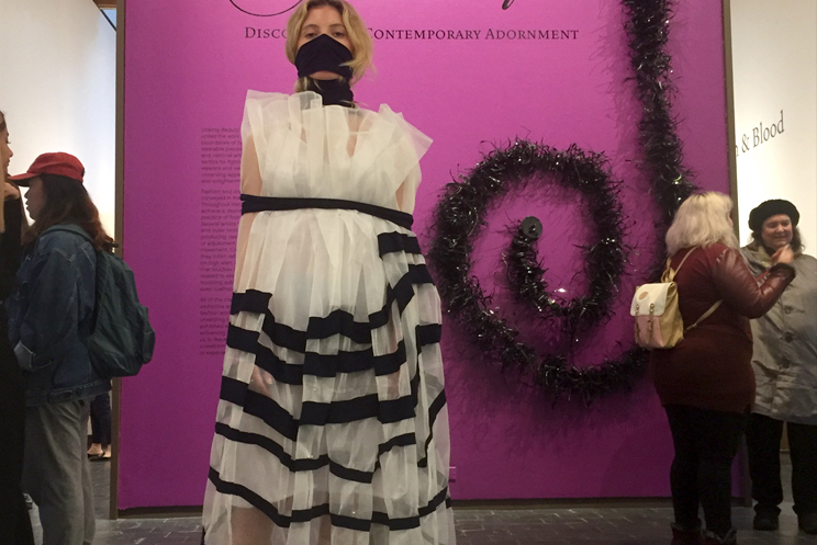Fuller Craft Museum Exhibit, SP18. Model: Isabella Maclea  (Agency)