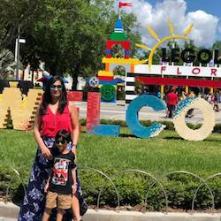 Exploring Legoland with my son
