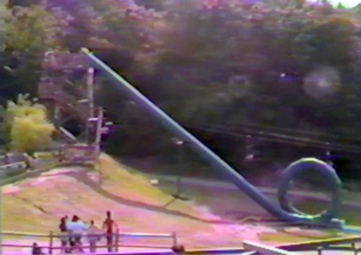 Yes, this was a real waterslide that went in a complete loop.
