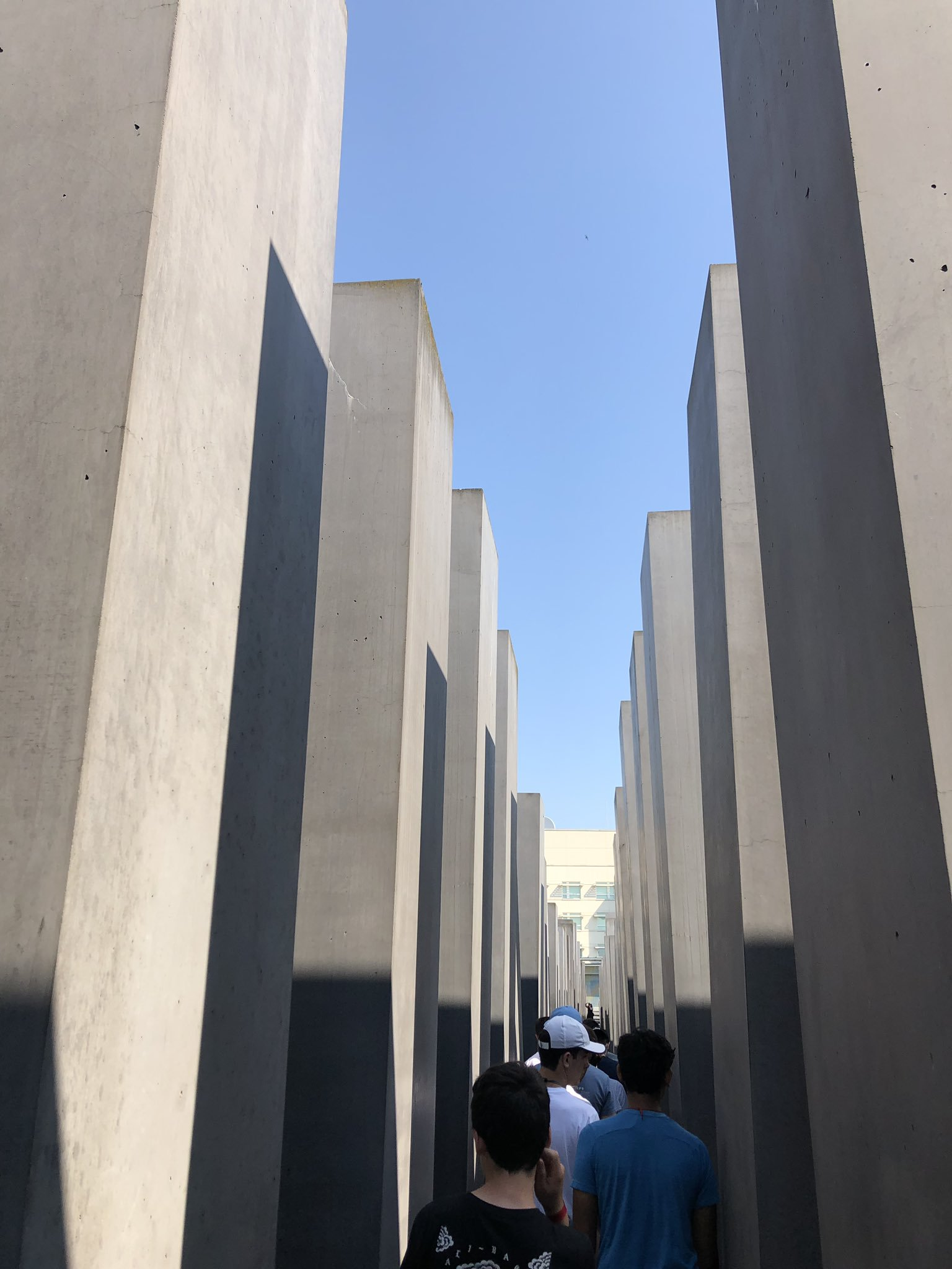 The 2019 Hermits European Educational Tour navigates their way through Berlin's Holocaust Memorial in City Center.  The moving experience was enhanced by the challenge posed by teachers to navigate the labyrinth while being mindful of the thoughts and feelings that came to mind: disorienting, claustrophobic, humbling. The moment has stayed with the students to this very day.