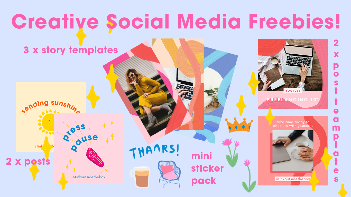 Creative Social Media templates by Tink