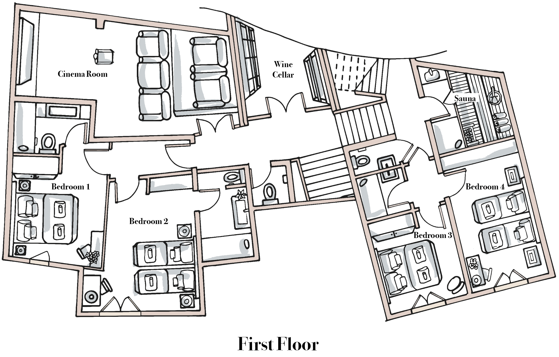 Chalet Bouquetin First Floor.png
