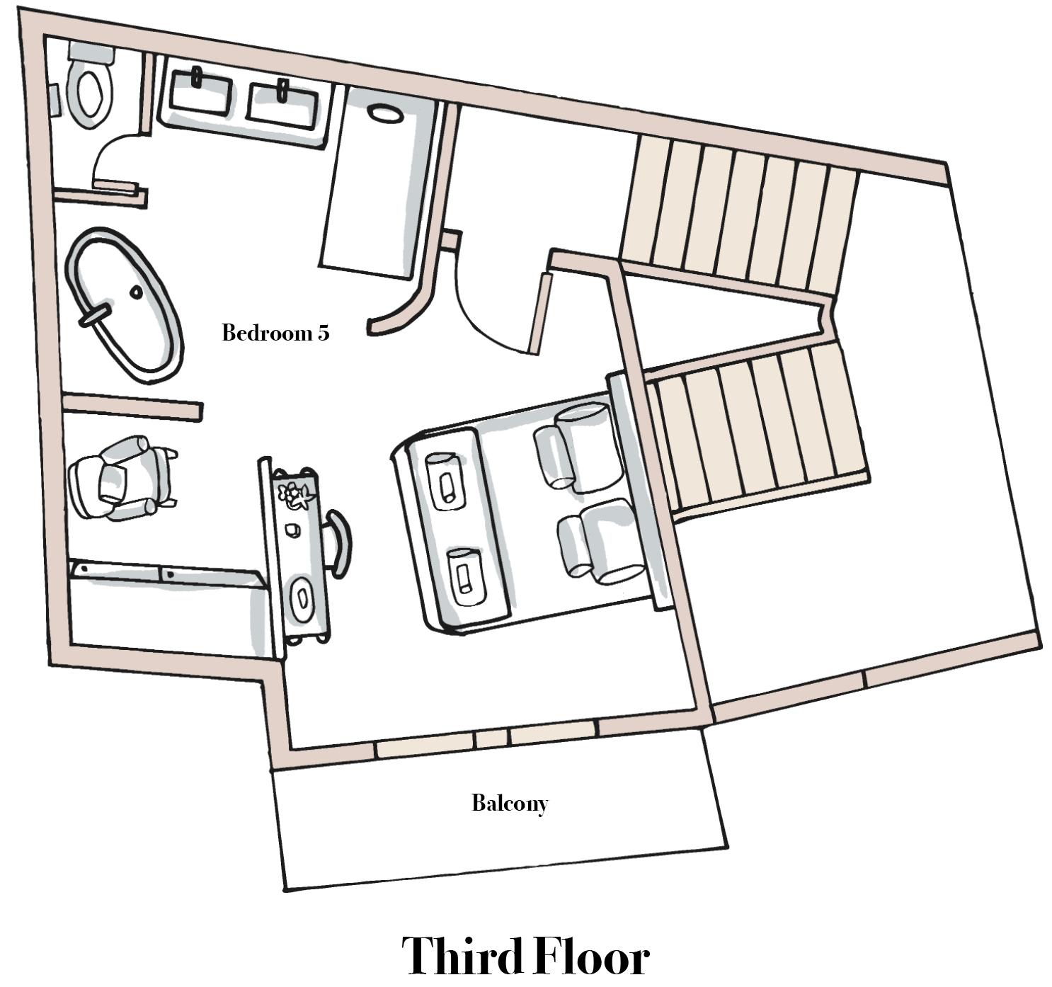 Chalet Bouquetin Third Floor.png