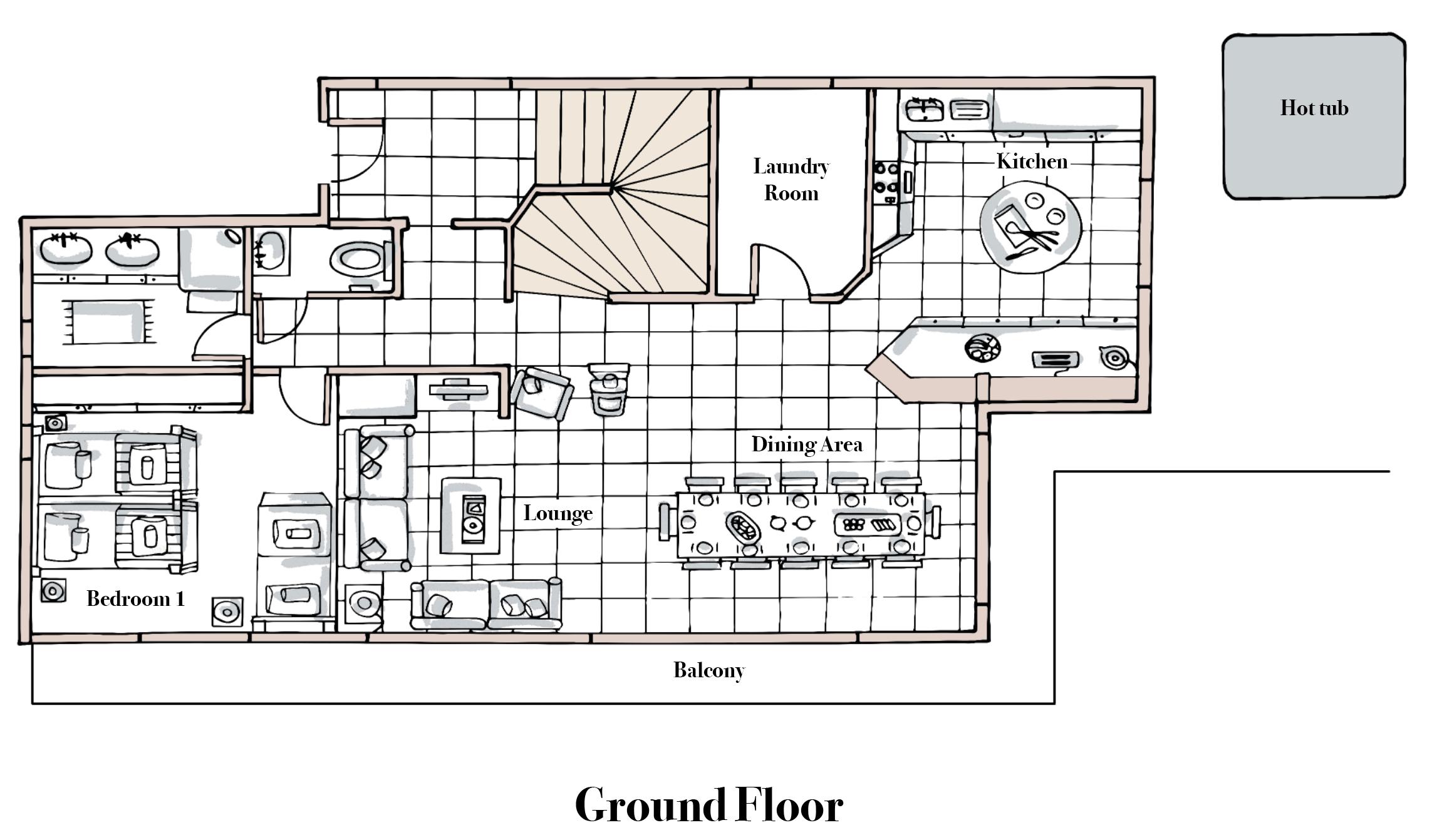 Chalet Roc Soleil Ground Floor.png