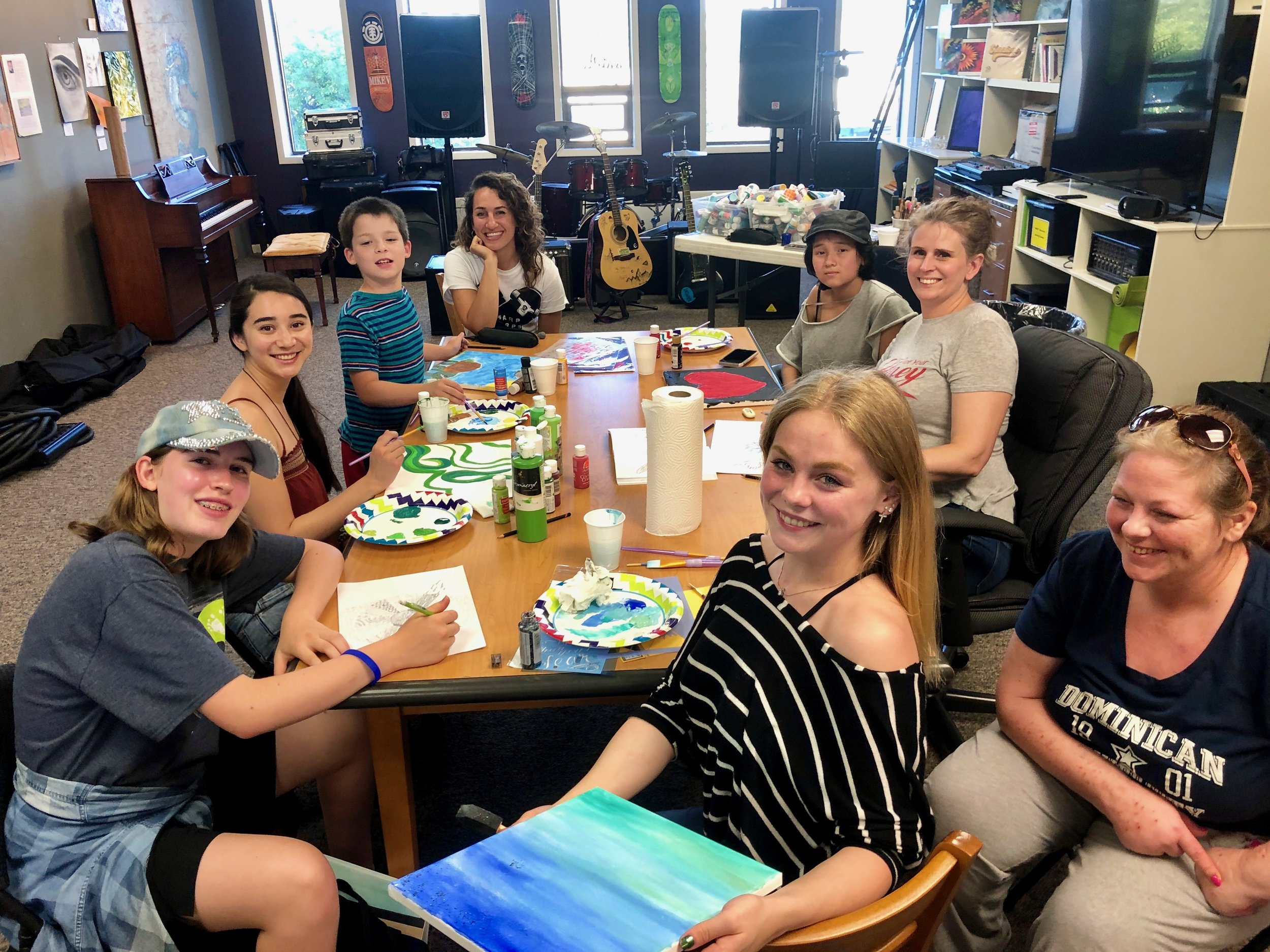 Art workshop with Natalia at Warp Corps headquarters, July 2019