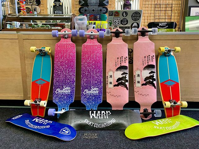 New decks at the shop! Stop by our store on the Woodstock Square and grab one before they're gone! 🚀