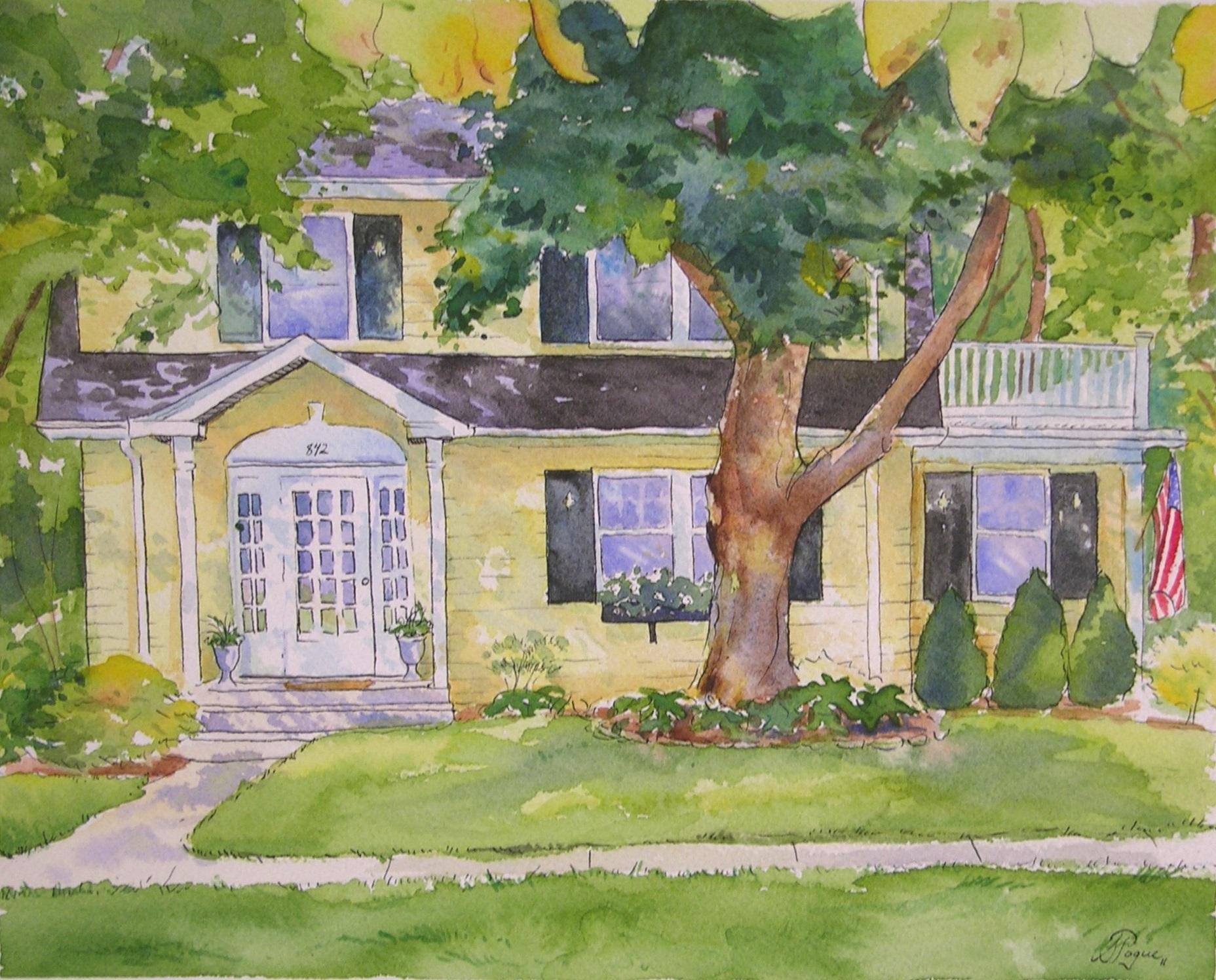 """House Portrait 8x10"""""""