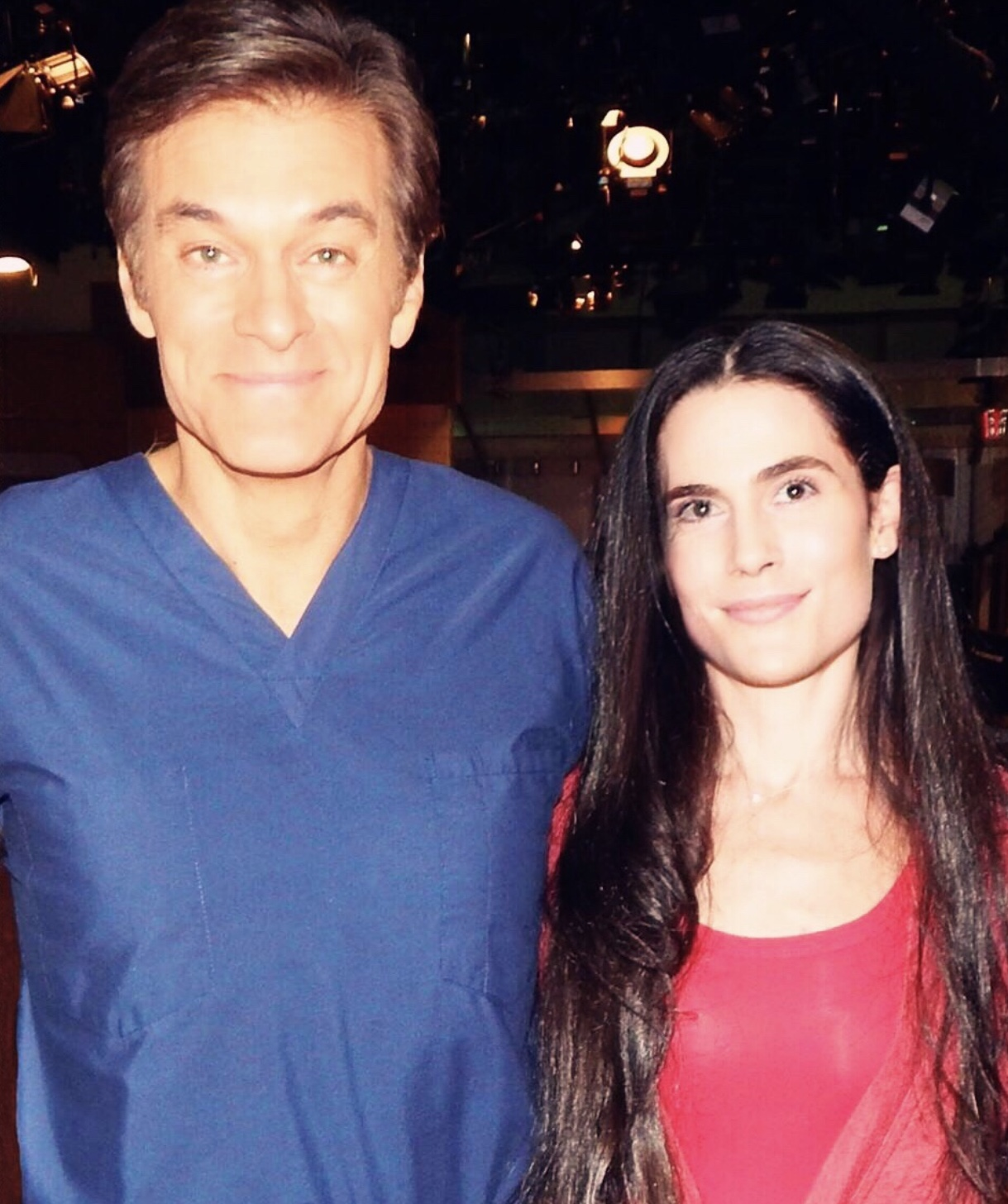 Dr. Mitzner meeting Dr. Oz where he recognized her calming presence and demeanor