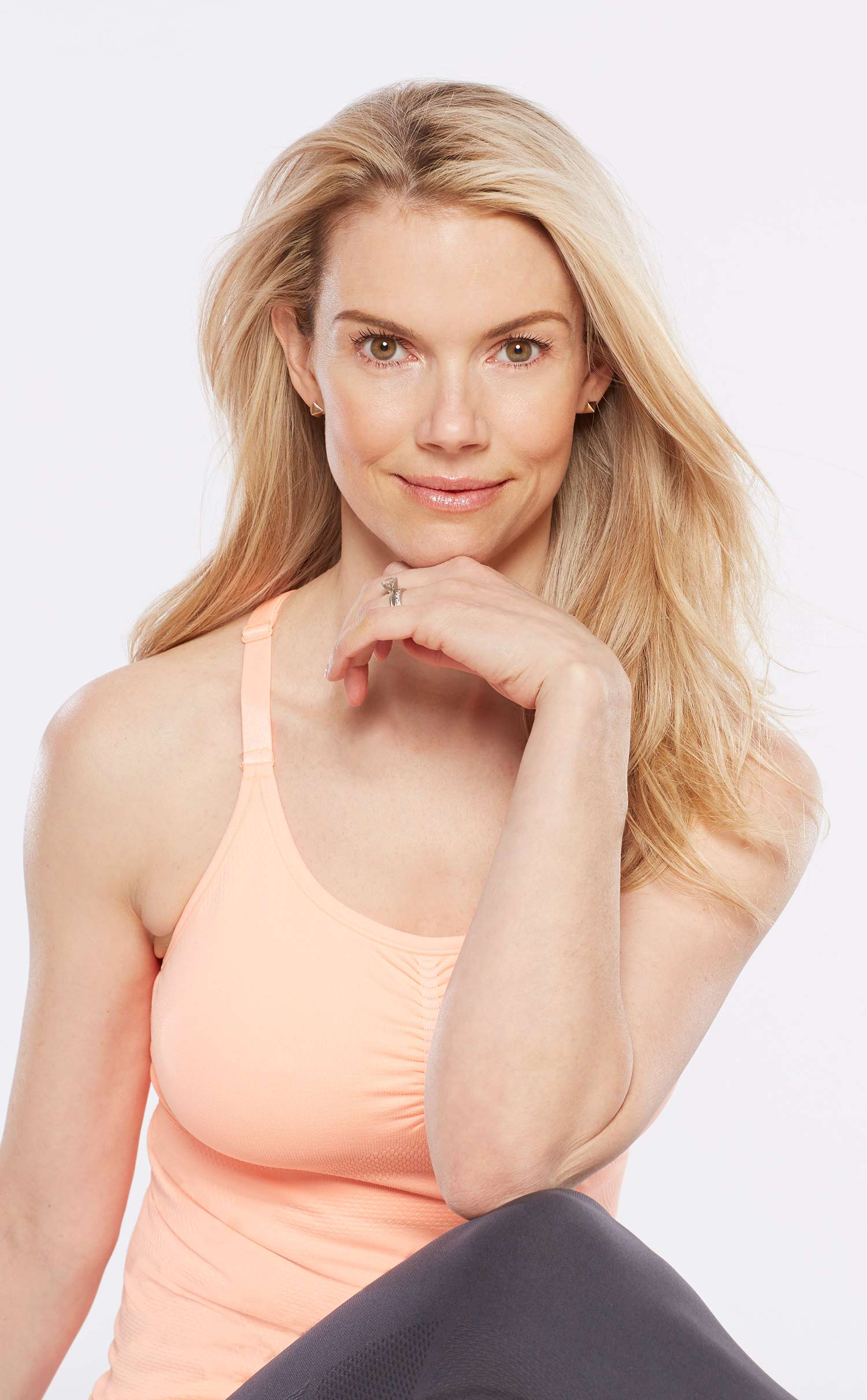 Testimonial and Headshot of Kristin McGee, Celebrity Yoga and Pilates Instructor, Wellness Expert, Author of Chair Yoga