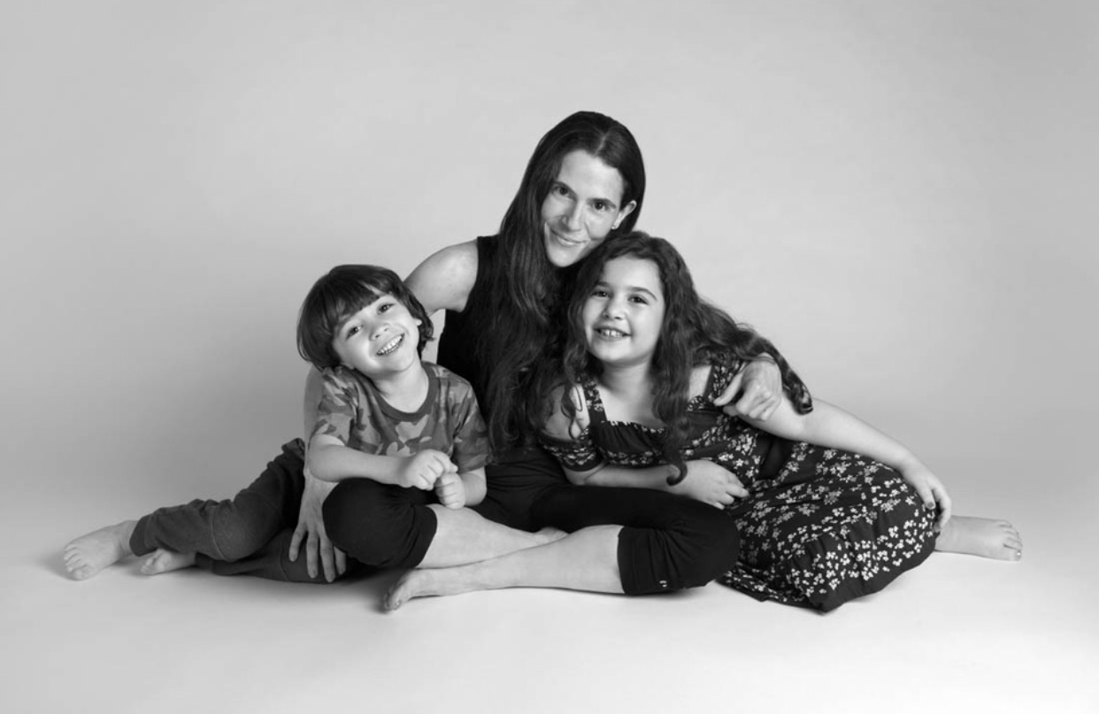 Dr. Alison Mitzner with her son and daughter, offering parenting and fitness tips for moms