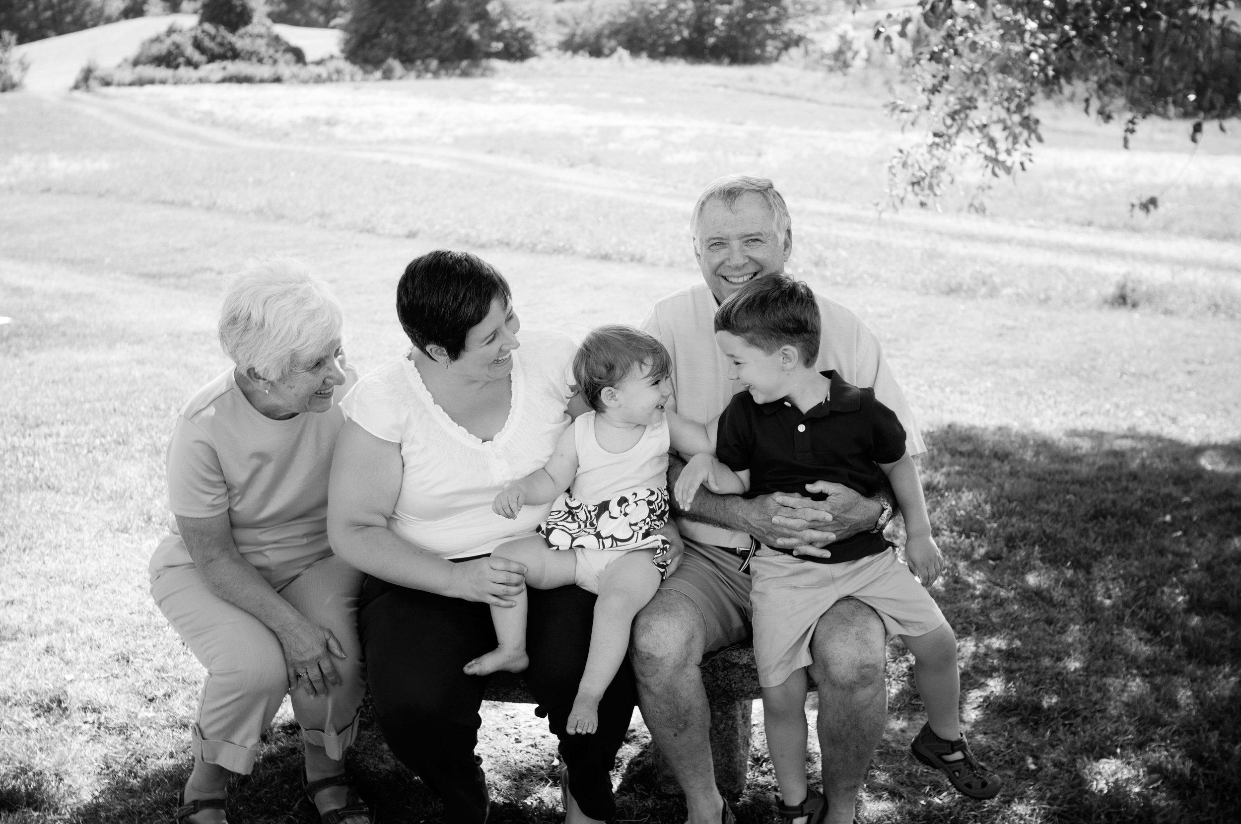 fun candid portrait of family