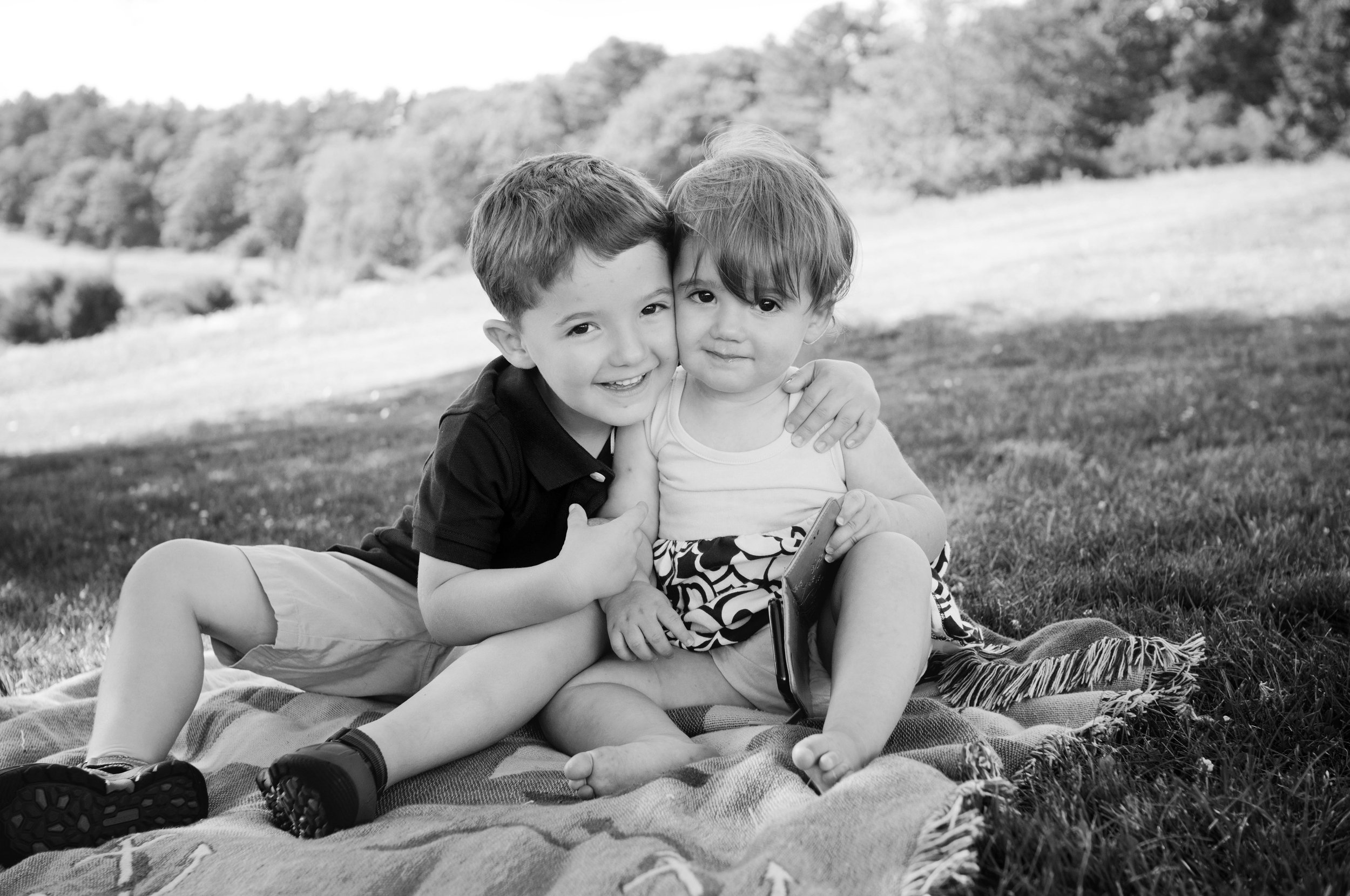 brother and sister portrait