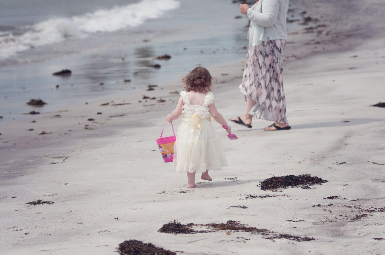 Little girl at Pemaquid Beach, Maine
