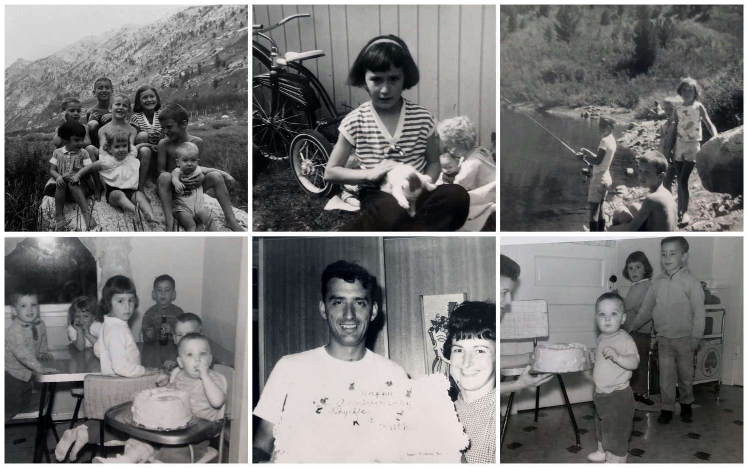 Collage of old family photos