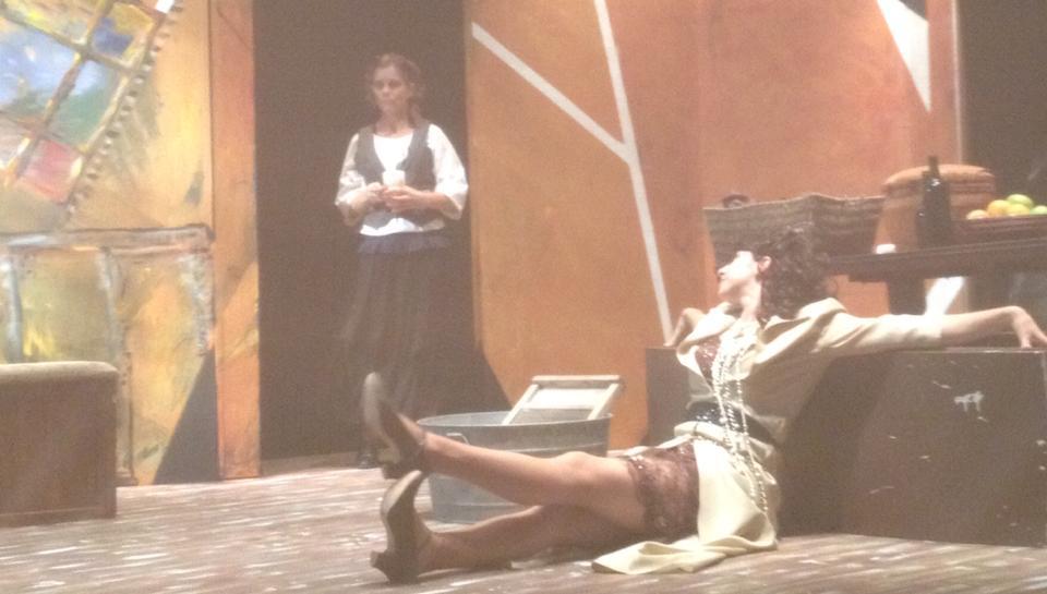 Emilia (Karen Schlag) and Desdemona (Tyrrell Woolbert)