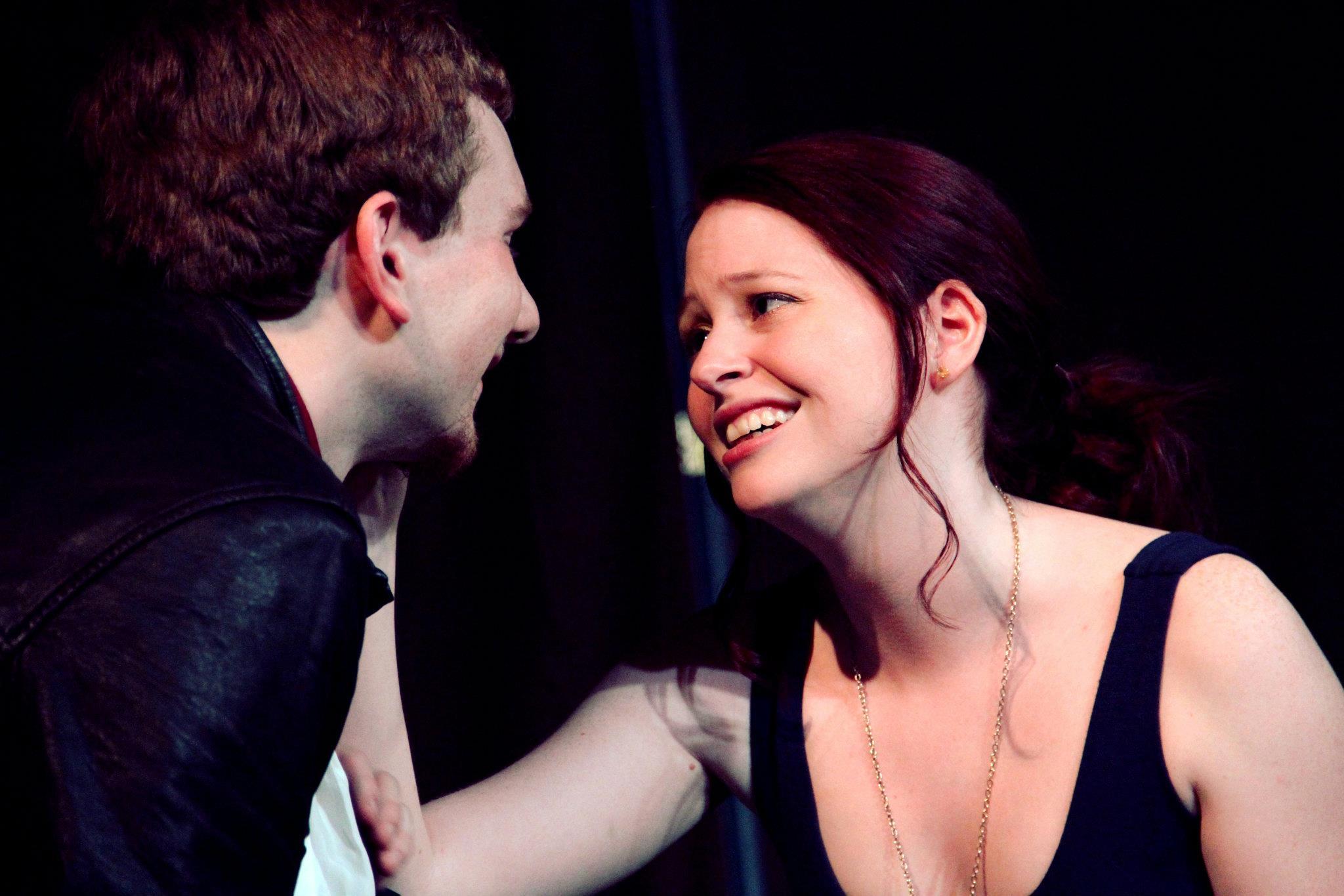 Troilus (Alex Karge) and Cressida (Haley Cooper)