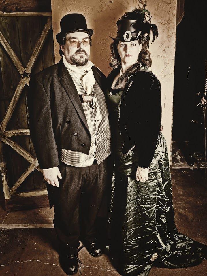 Claudius (Jonathan Gonzalez) and Gertrude (Cheryl Tanner)