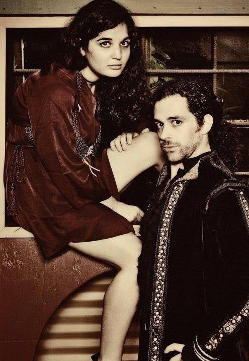 Ophelia (Clarity Welch) and Hamlet (Aaron Echegaray)