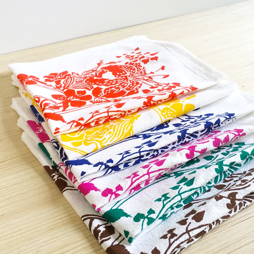 and housewares. - Looking for tea towels and napkins? We do those, too.