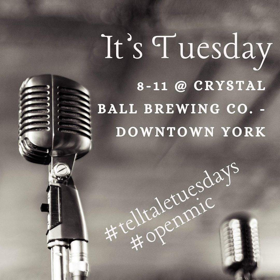 Every week so far we've been blown away by first-time performers and seasoned pros. Musicians, storytellers, poets, and comics come share your talents with us in a comfortable and embracing community setting. Or sit back and enjoy the talent with drink and food specials and good folks. . . #openmic #poetry #acousticmusic #storyteller #singersongwriter #yorklive #iloveyorkcity  (at Crystal Ball Brewing Co. - Downtown York)  https://www.instagram.com/p/B01INggHdH-/?igshid=3ge3g0umag37