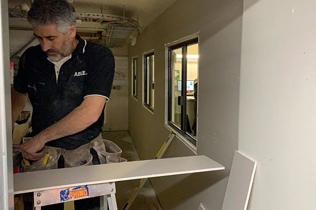 Albert working on a new office at @lexusaustralia Head Office. We're #ABLE 🛠 — #able #ablemm #maintenance #melbournemaintenance #melbourne #internalrepairs #yes #painting #patch #plumbing #electrical #joinery #tiling #carpentry #hardware #spanner #handyman #instagood #insta #contact #house #trending #igdaily #refurbished #city #citylife #surburban #environment #sustainability #weareable