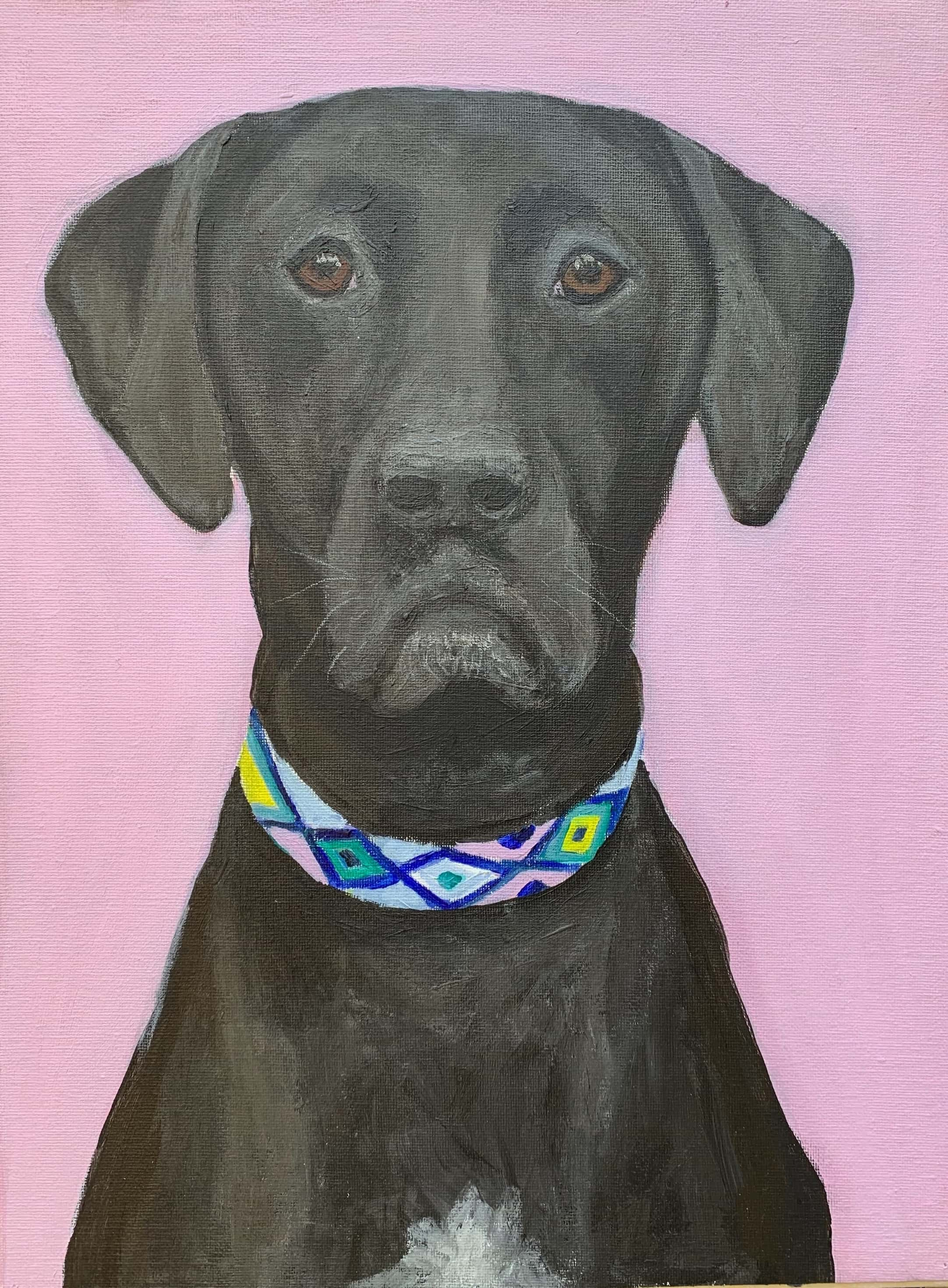 My Therapy Dog #2   Acrylic  12w 16h