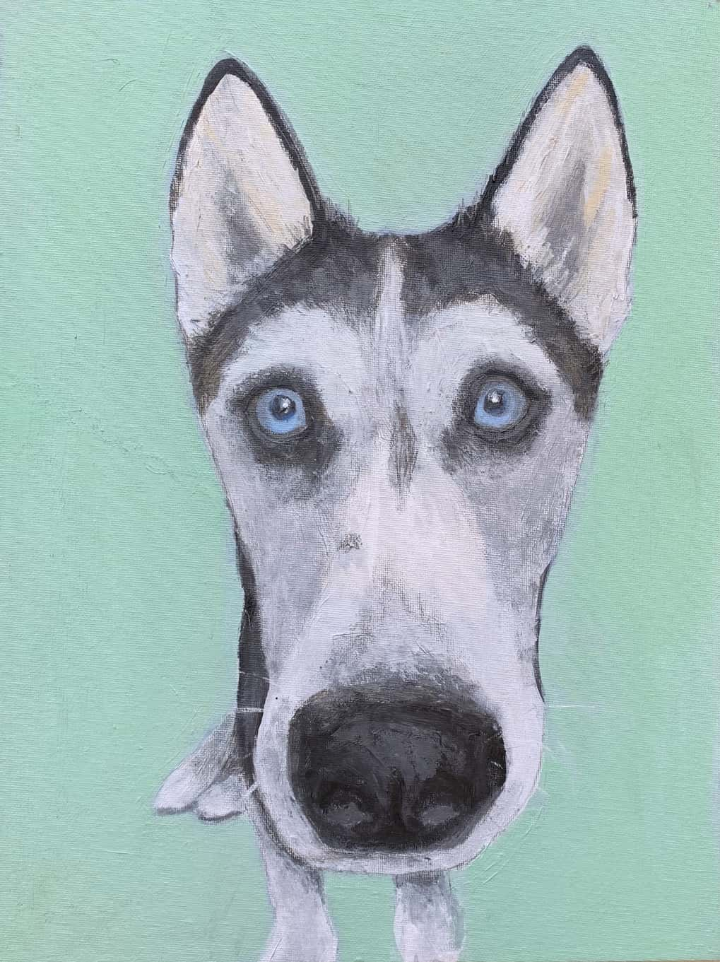 My Therapy Dog #3   Acrylic  12w 16h
