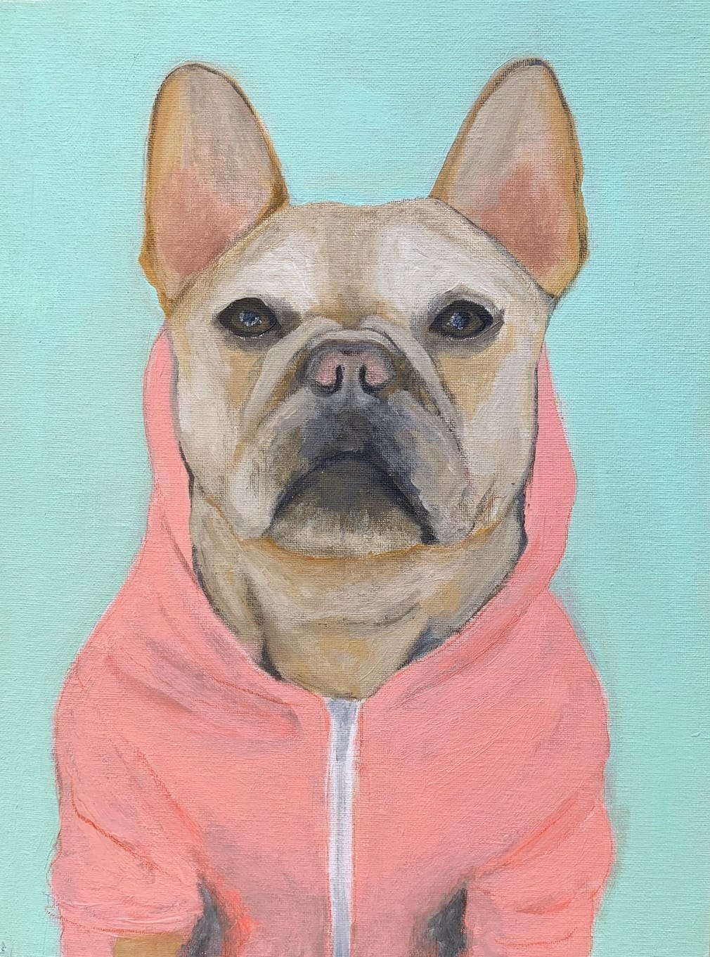 My Therapy Dog #4   Acrylic  12w 16h