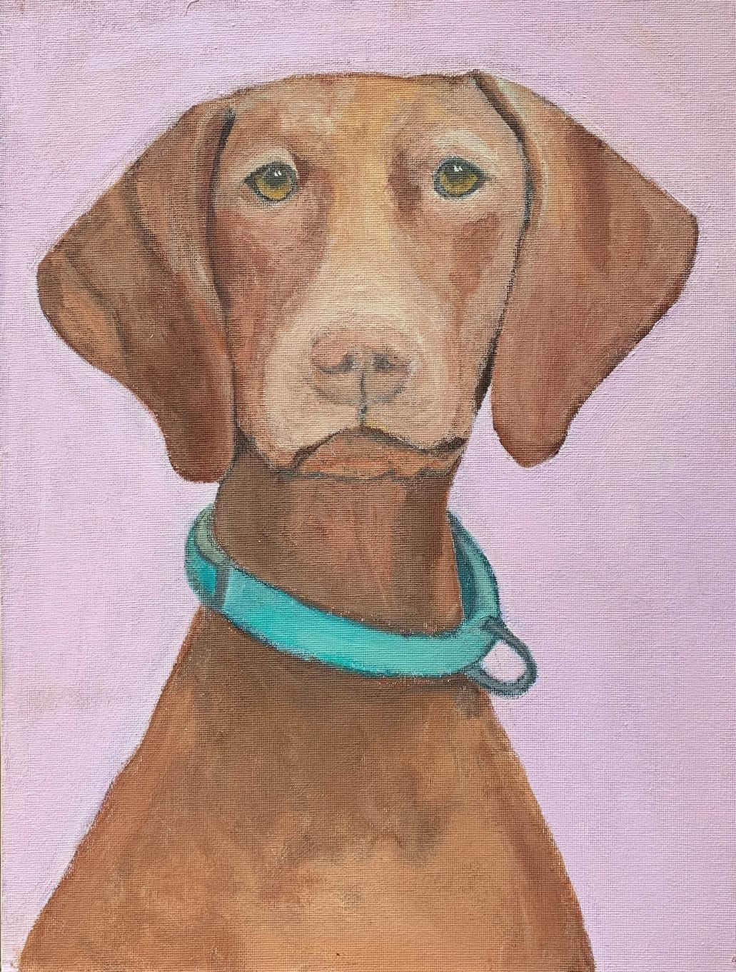 My Therapy Dog #5   Acrylic  12w 16h