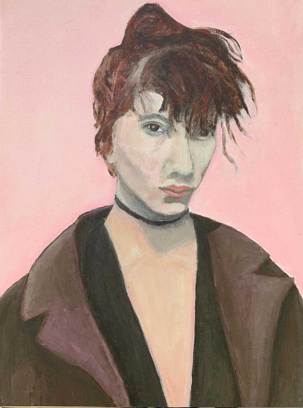 Portrait 5   Acrylic  12w 16h