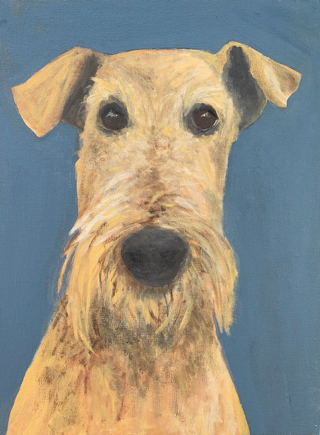 My Therapy Dog #12   Acrylic  12w 16h