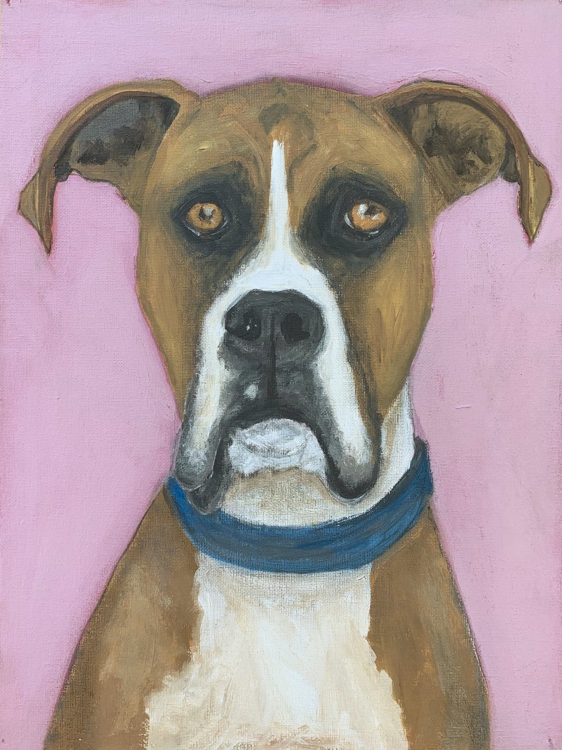 My Therapy Dog #9   Acrylic  12w 16h