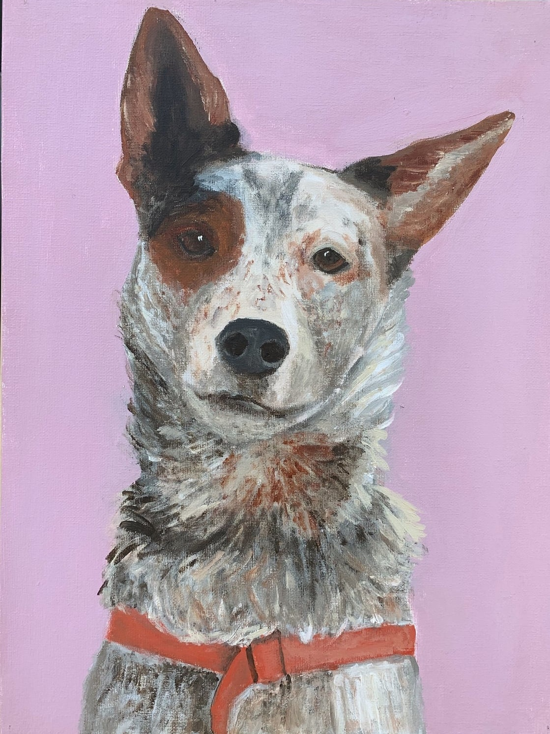 My Therapy Dog #8   Acrylic  12w 16h